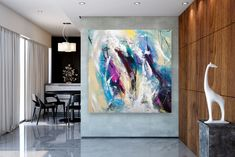 Items similar to Large Modern Wall Art Painting,Large Abstract wall art,texture art painting,colorful abstract,office wall art on Etsy Large Abstract Wall Art, Colorful Wall Art, Bright Paintings, Unique Paintings, Abstract Paintings, Art Paintings, Oversized Canvas Art, Large Canvas, Texture Painting
