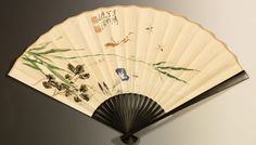 Chinese Painting Fan 'Morning glory and Mantis' - 王雪濤, Wang Xue Tao S009