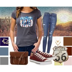"""""""Route 66"""" by tsjgbrand on Polyvore"""