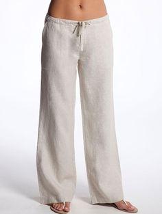 Camel Relaxed Linen Pants