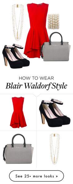 """Blair Waldorf"" by allie-millexo on Polyvore featuring Alexander McQueen, Rosantica, MICHAEL Michael Kors and gossipgirl"
