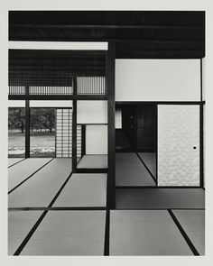 Yasuhiro Ishimoto, The Old Shoin, viewed from the north-east , 1981, gelatin silver print