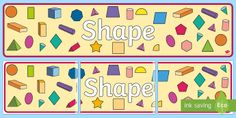 Shape Display Banner - Australian Curriculum Mathematics Display Banners, measurement, geometry, measurement and geometry,
