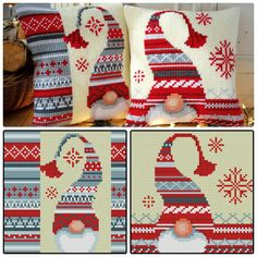 club.osinka.ru picture-11054812?p=19890739 Halloween Embroidery, Christmas Embroidery, Christmas Pillow, Christmas Cross, Xmas, Cross Stitch Embroidery, Cross Stitch Patterns, Cross Stitch Cushion, Cross Stitch Tutorial