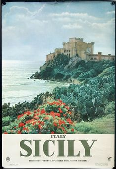 Vintage Italian Posters, Vintage Travel Posters, Photo Vintage, Sicily Italy, Vintage Italy, Northern Italy, Beautiful Places To Visit, Art Design, Italy Travel