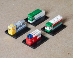 """Micropolized"" LEGO City vehicles (by Galaktek)"