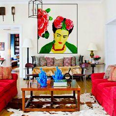 Frida Kahlo Peony Poster Instant Digital Download by ARTDECADENCE