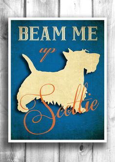 Scottie Typographic print letterpress style wall decor Scottish Terrier typography poster quote art wall sign wall hanging on Etsy, $22.00