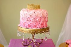 Pink + Gold Princess themed birthday party via Kara's Party Ideas KarasPartyIdeas.com Cake, supplies, printables, desserts, food, favors, and more! #princess #princessparty #pinkprincessparty #princesscake #princesspartysupplies (23)