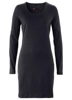 Strečové úpletové šaty s dlhým rukávom • 8.99 € • bonprix