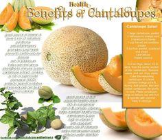 Health benefits of cantaloupes