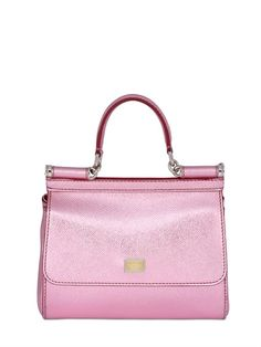 SMALL SICILY LAMÉ DAUPHINE LEATHER