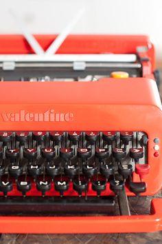 olivetti valentine typewriter by glassdeer on Etsy, $700.00
