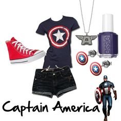 Women's Clothes Catalogues Buy Now Pay Later Marvel Inspired Outfits, Disney Themed Outfits, Character Inspired Outfits, Disney Bound Outfits, Marvel Fashion, Superhero Fashion, Captain America Outfit, Captain America Clothes, Fandom Fashion