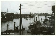 Rogaland fylke Haugesund havnemotiv tidlig 1900-tall Utg C. A. Erichsen