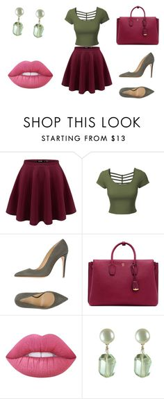 """Bez naslova #25"" by ermina-camdzic ❤ liked on Polyvore featuring LE3NO, Armani Collezioni, MCM and Lime Crime"