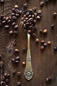 Beautiful, rich brown coffee! Coffee Beans by PavelGr - Pavel Gramatikov | Stocksy United #CoffeeBeans
