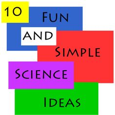 10 fun and simple science ideas - a round-up of my favorites from the Quirky Momma Kids Activities B Fun Math Games, Science Activities For Kids, Easy Science, Preschool Science, Science Classroom, Science Lessons, Teaching Science, Science Projects, Science Ideas