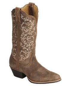 My wedding boots! The ivy is ivory so it will match my dress perfectly! Twisted X Fancy Stitched Cowgirl Boots