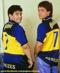 Maradona & Guillermo Barros Schelotto