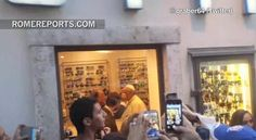 The Pope had a packed schedule on Thursday. He met the president of Israel and had few additional audiences in the Vatican. But at around seven o clock, the Pope decided to make an errand, near the city's Piazza Navona, to get his glasses fixed with a loc