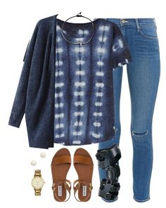 """What I wore today✌️"" by kaley-ii ❤ liked on Polyvore featuring Frame Denim, J.Crew, Steve Madden, Brooks Brothers, Kate Spade and kaleyschoosets"