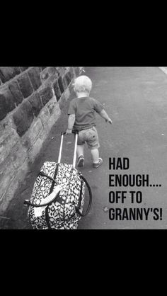 I hope my grandchildren always want to come to Granny's! Baby Quotes, Family Quotes, Cute Quotes, Grandmother Quotes, Grandma And Grandpa, Grandma Sayings, Call Grandma, Funny Baby Memes, Funny Babies