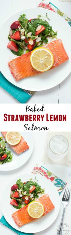 Baked Strawberry Lemon Salmon