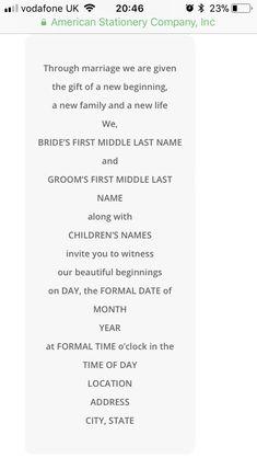 Sample wedding invitation monetary request google search wedding invite wording couple and children hosting stopboris Choice Image
