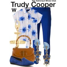 Inspired by Odette Annable as Trudy Cooper on The Astronaut Wives Club.love this whole outfit