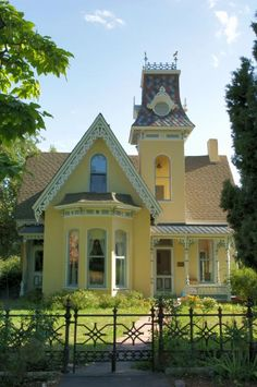Victorian yellow house