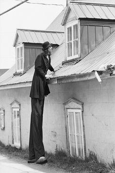 Gilles Ste-Croix, co-fundador e diretor de arte do Cirque du Soleil, na juventude.