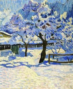 Giovanni Giacometti – The garden in winter. 1909
