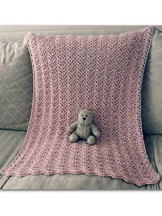 Crochet - Children & Baby Patterns - Blankets - Knit-Look Lace Baby Blanket