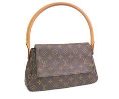 Louis Vuitton Designer Handbags M51147 Mini Looping Monogram Canvas Shoulder Bag Purse
