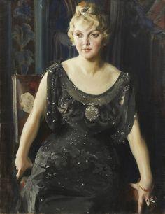 Anders Zorn - Portrait of Mrs. Piltz