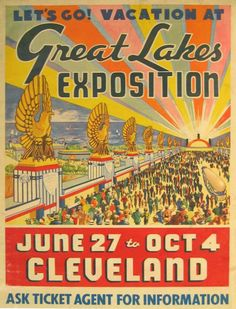 Poster for the Great Lakes Exposition.