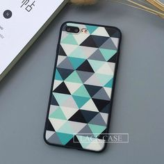 Fashion Geometry Triangle Case For iphone 7 Case For iphone7 PLus 6 6S Plus 5 5S Back Cover Abstract Graffiti Phone Cases Capa