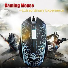 ba46283ad0f Professional Athletics Optical 1200 DPI Wired Gaming Mouse Seven-color  Backlight #UnbrandedGeneric #amorfitness