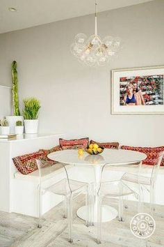 boho interior design white dining room