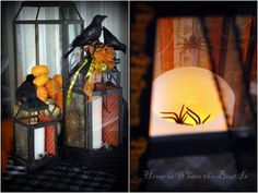 #Halloween #Lanterns from Home is Where the Boat Is #MichaelsStores