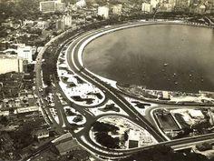 A Praia de Botafogo na década de 1950  Foto: Arquivo / Agência O Globo