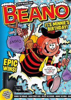 Minnie the Minx Anniversary Beano Cover Happy 60th Birthday, Minnie Birthday, Birthday Cakes, Magazines For Kids, Vintage Magazines, Vintage Books, Beetle Bailey, Children's Comics, British Humor