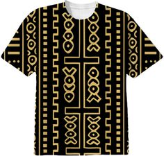 Mud Cloth Pattern print t-shirt designed by Seitu Hayden from Print All Over Me