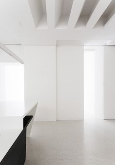 Fake Skylight for family room with led strips Beletage Apartment in Vienna by Alex Graef