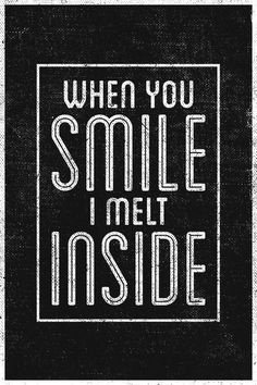When you smile I melt inside Blink 182 Quotes, Blink 182 Lyrics, Make Mine Music, Music Is Life, Broken Lyrics, Angels And Airwaves, I Love My Hubby, When You Smile, Song Quotes