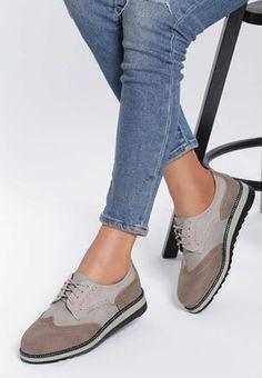 Pantofi Oxford Sabrinia Bej Lei, Mary Janes, Oxford Shoes, Sneakers, Women, Fashion, Tennis, Moda, Slippers
