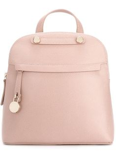 FURLA Top Handle Backpack. #furla #bags #leather #stone #backpacks #