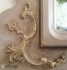 Step by Step Trumeau Mirror using Appliqués and Chalk Paint | Colorways with Leslie Stocker