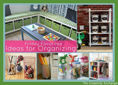 Great ideas from all around blogland for getting organized {Friday Favorites} The Creativity Exchange